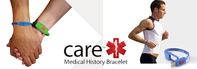 USB Drive Medical Bracelet