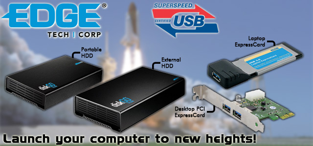 Edge Tech SuperSpeed USB 3.0 Hard Drives ExpressCards