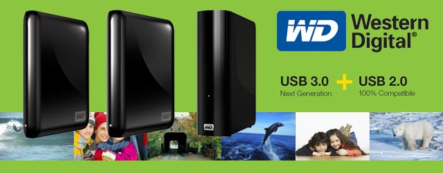 WD USB 3.0 External Hard Drives