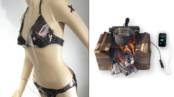 Solar Bikini USB Charger & USB Power Pot