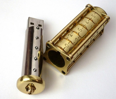 Cryptex Steampunk USB Flash Drive