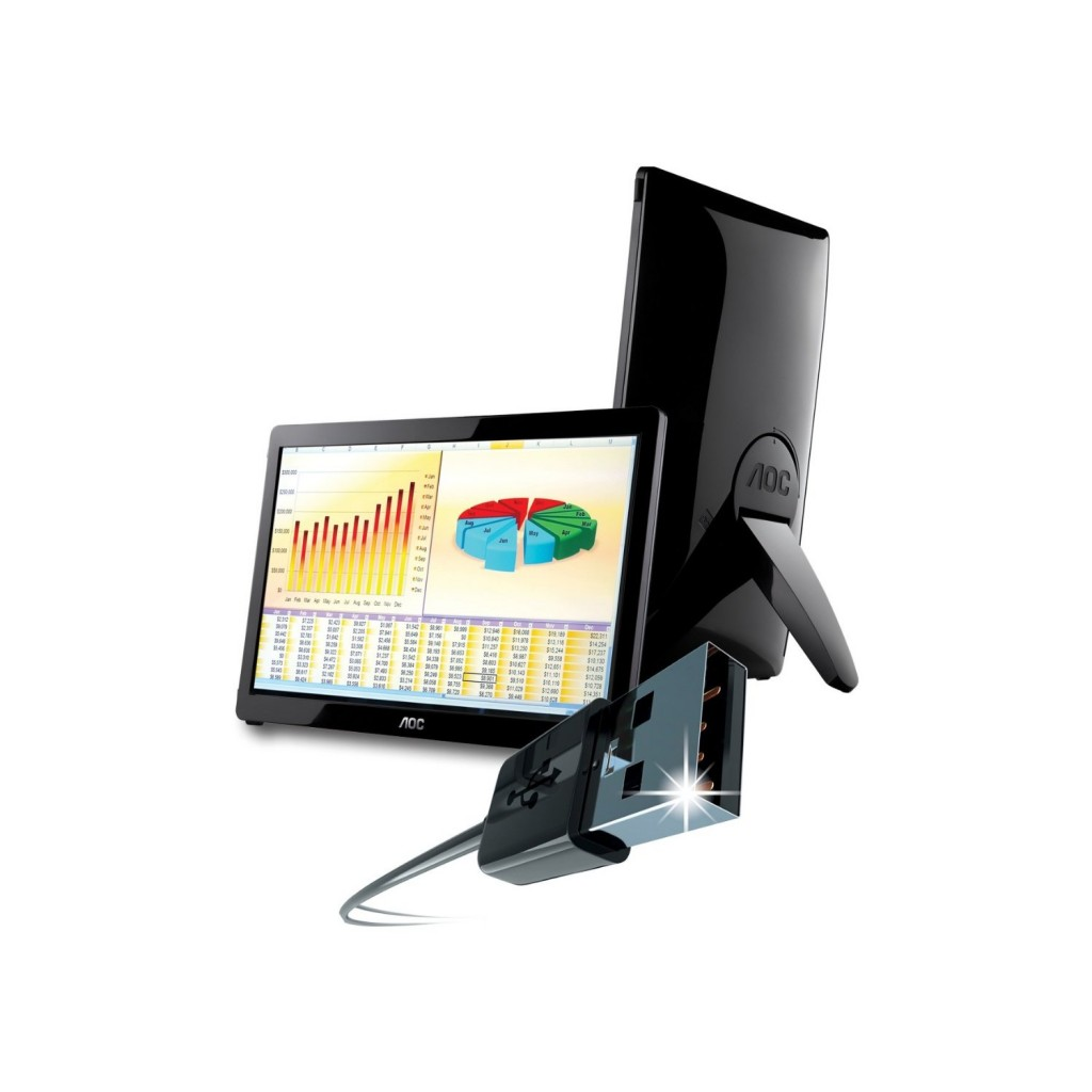 Usb Powered Monitor : Aoc e fwu revolutionary usb powered monitor allusb