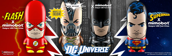 MIMOBOT Superhero USB flash drives
