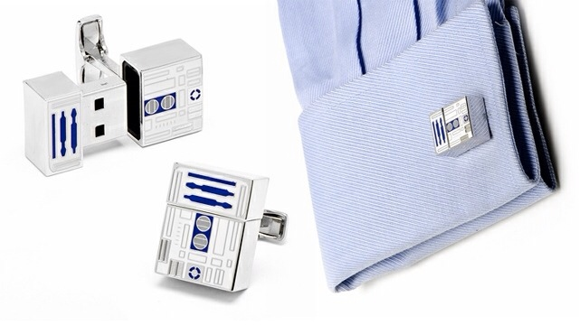 R2-D2 USB Flash Drive Cufflinks from Lucas Films