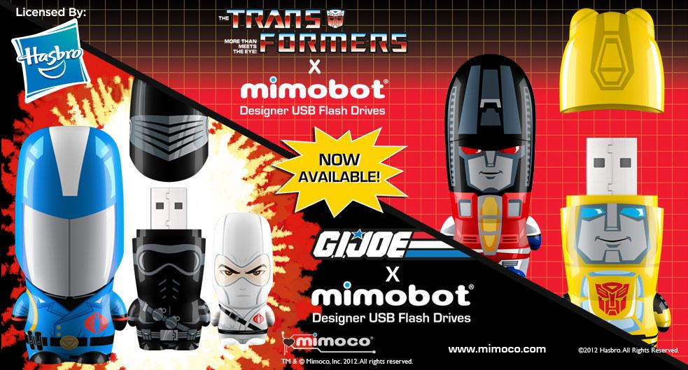 Mimico Transformers & G.I. Joe Designer USB