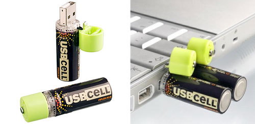 Eco-friendly USB CELL Batteries