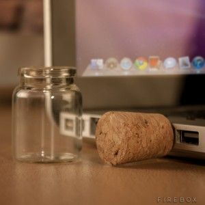 cork usb in a bottle